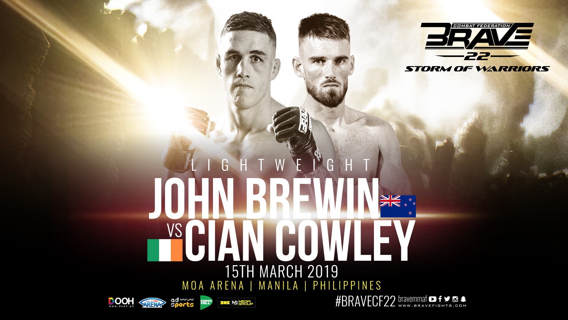 Cian Cowley returns against John Brewin at Brave 22 -