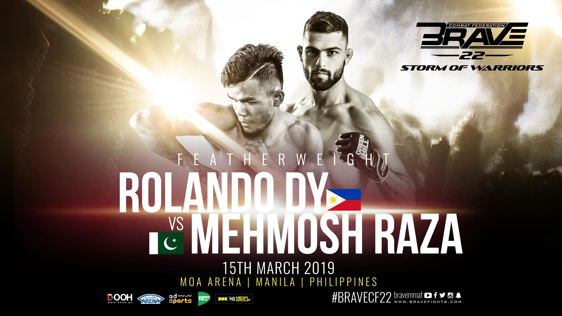 Brave 22: Rolando Dy returns home for bout against Mehmosh Raza -