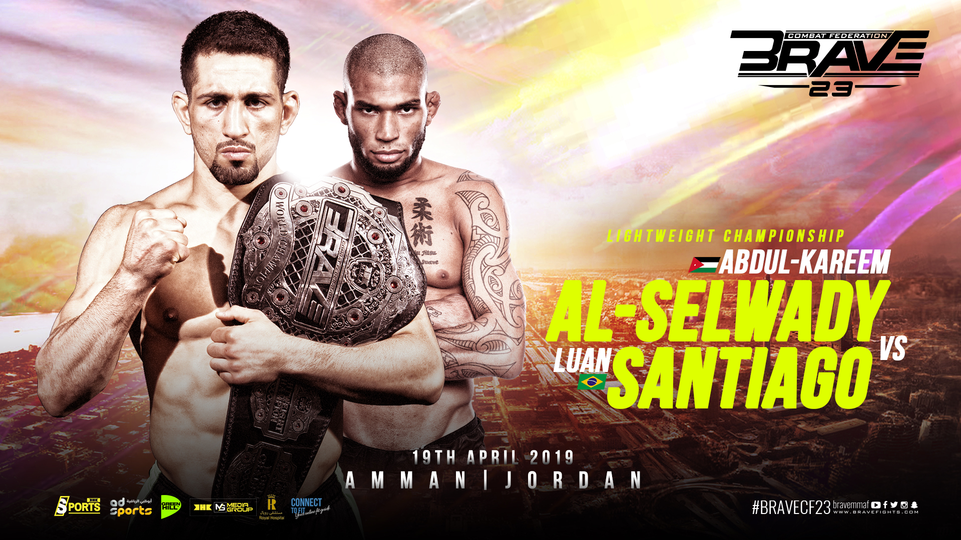 Brave 23: Al-Selwady to defend title at home against Luan Santiago -