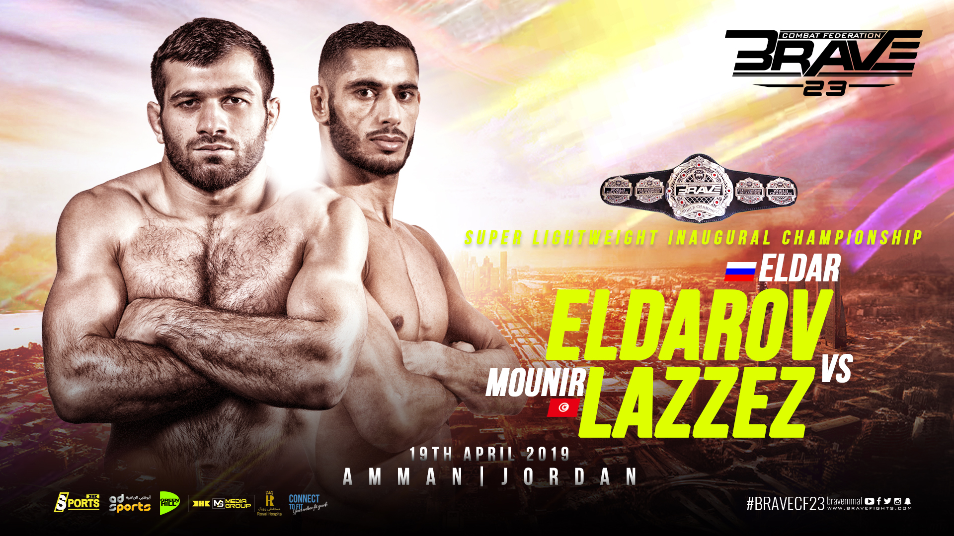 Brave 23: Eldarov and Lazzez to fight for inaugural Super Lightweight title -