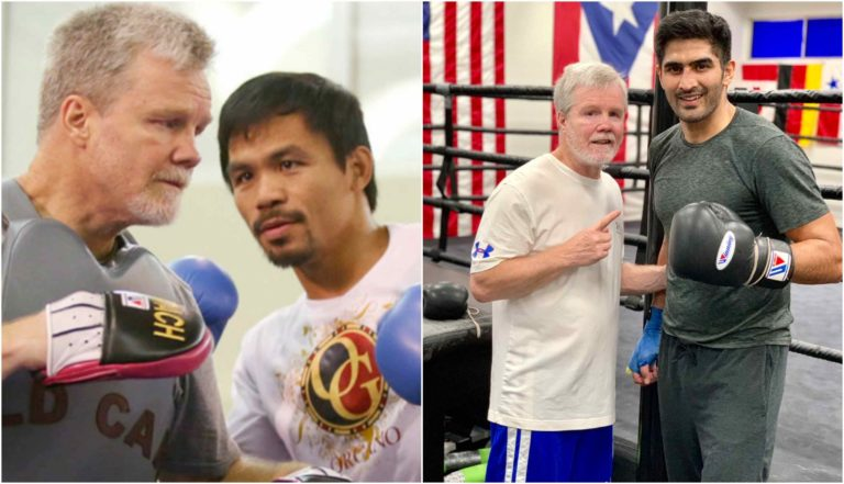 Vijender singh training with Manny Pacquiao's coach Freddie Roach