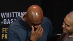 Watch: Anderson Silva and Israel Adesanya both get emotional at th e ceremonial weigh ins - Adesanya