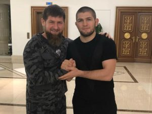 Khabib Nurmagomedov seen with Chechen Dictator Ramzan Kadyrov following Chechnya's Alleged 'Gay Purge' - Nurmagomedov