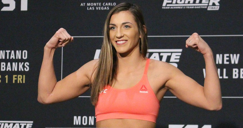 UFC 234 Results: Montana De La Rosa Submits Nadia Kassem in Round 2 -