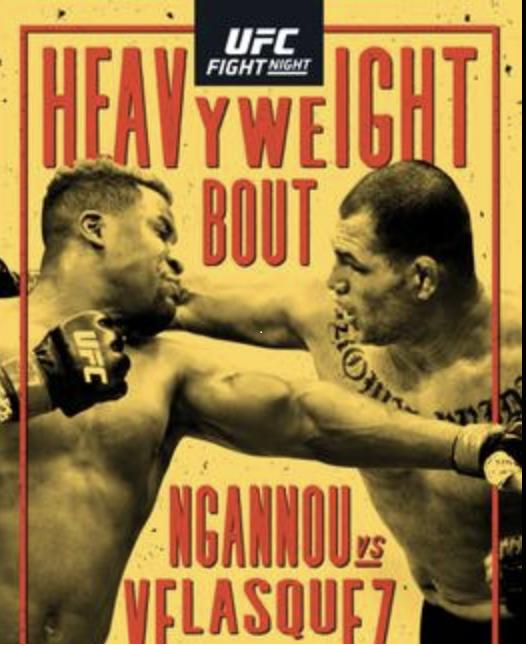 Watch UFC – Ngannou vs Velasquez -