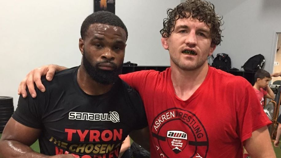 Watch: Hilarious Tyron Woodley and Ben Askren explain why Kamaru Usman is mad at them -