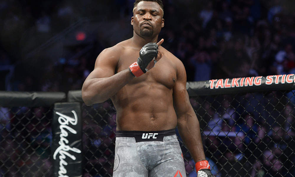 Francis Ngannou trolls Brock Lesnar: He talks sh*t but never shows up to fight -