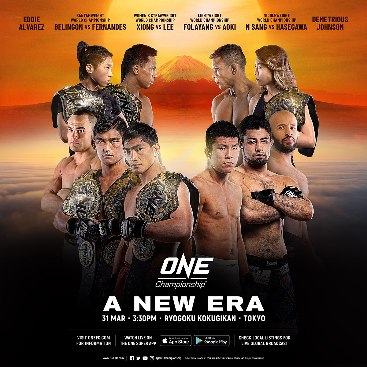 🔴 COMPLETE CARD ANNOUNCED FOR ONE: A NEW ERA ON 31 MARCH IN TOKYO -