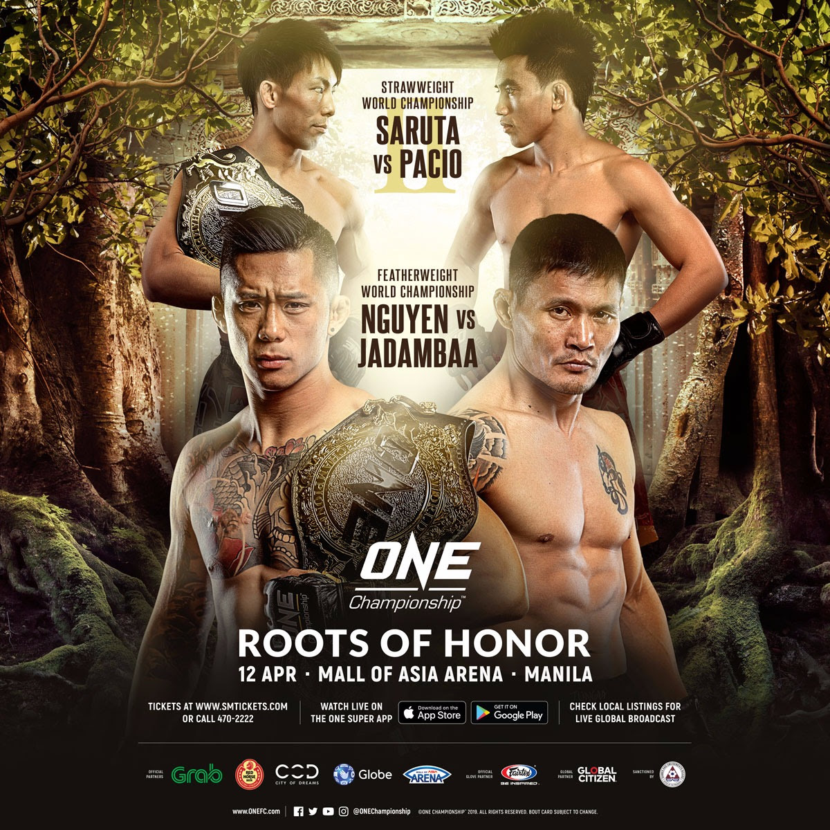 MARTIN NGUYEN TO DEFEND ONE FEATHERWEIGHT WORLD TITLE AGAINST NARANTUNGALAG JADAMBAA AT ONE: ROOTS OF HONOR IN MANILA -