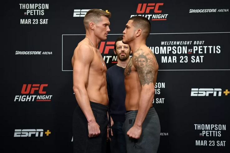UFC Fight Night 148 'Thompson vs. Pettis' - Play by Play Updates & LIVE Results -