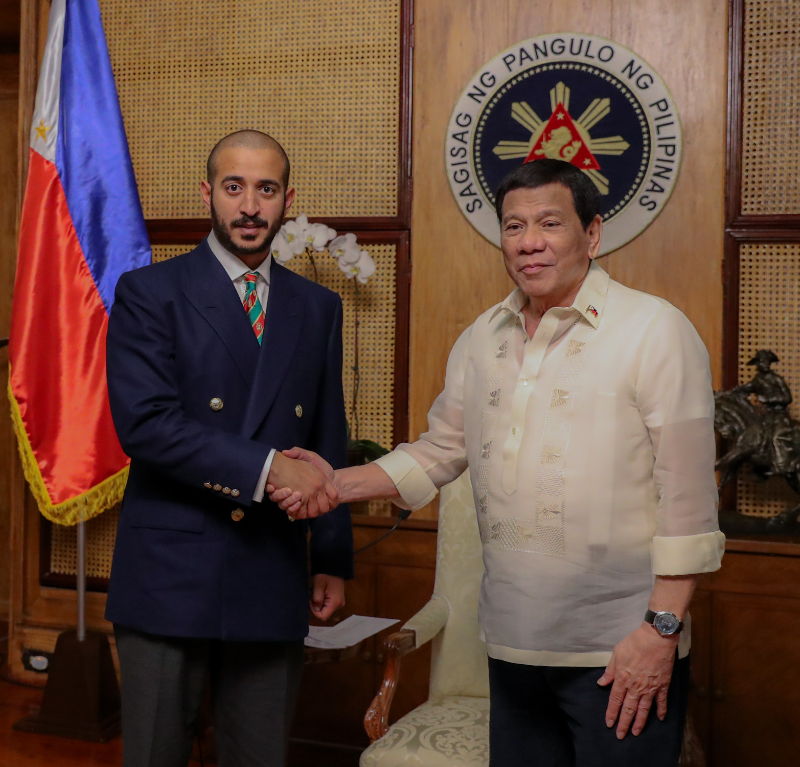 'It develops Bahrain-Philippines ties', President Duterte praises Brave in meeting with Sheikh Khalid -