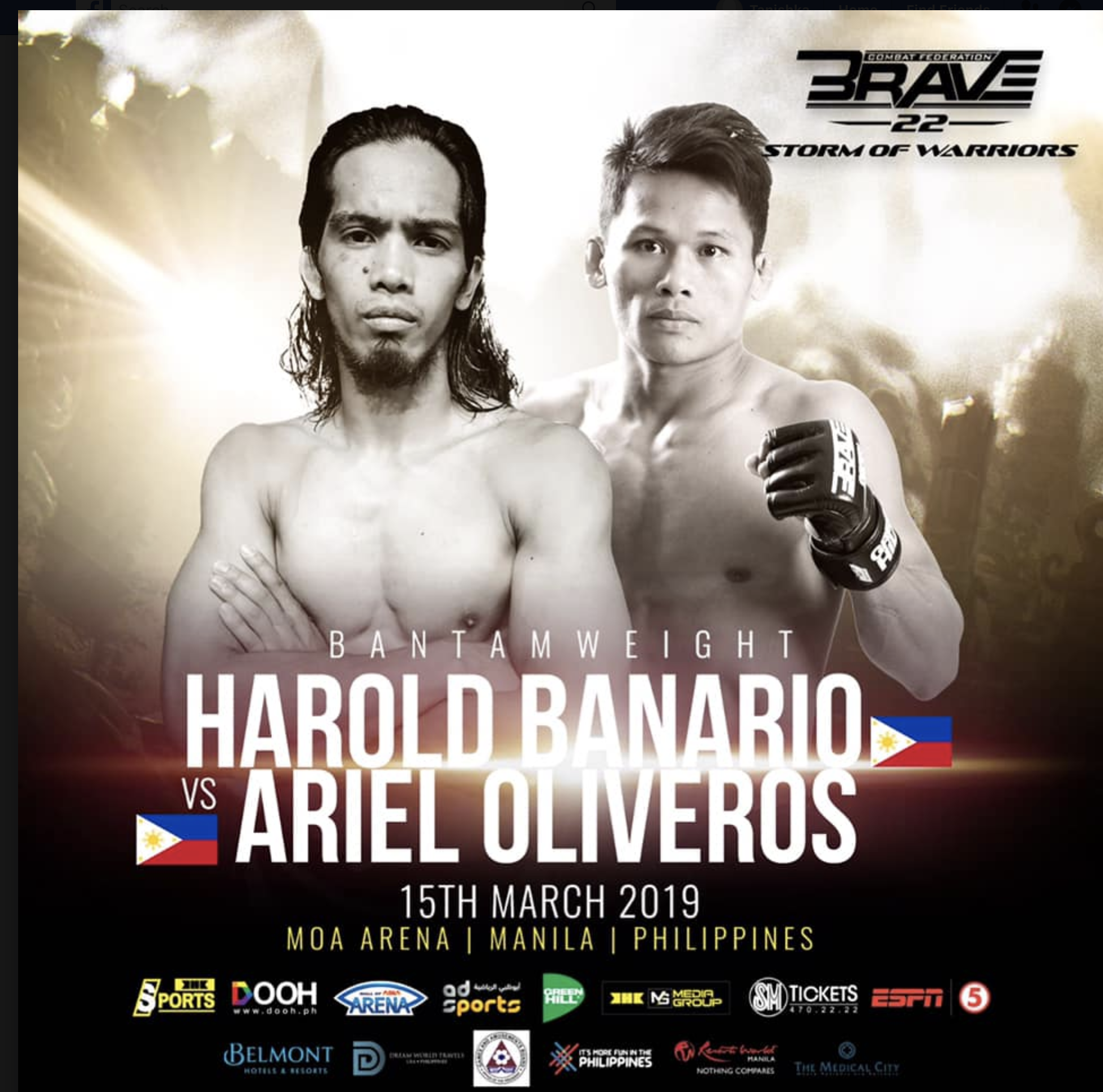 Harold Banario has a new opponent for debut fight at Brave 22 -