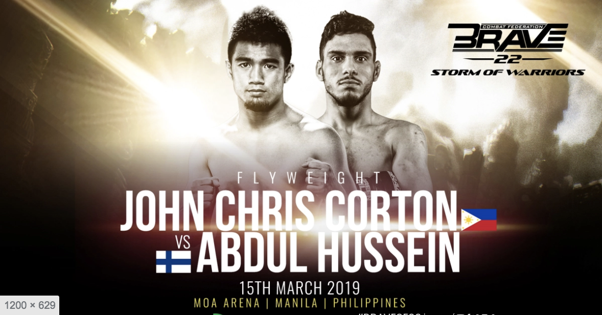 Philippines' Corton looks to extend win streak in front of home fans at Brave 22 -