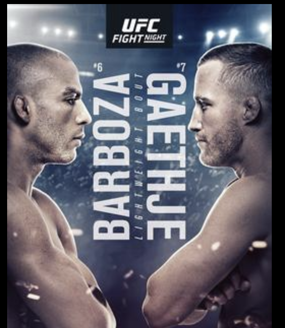UFC Fight Night – Edson Barboza vs Justin Gaethje -