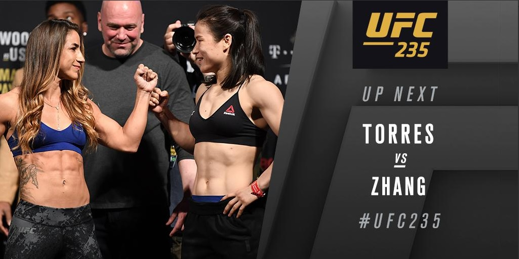 UFC 235 Results: Weili Zhang Dominates Tecia Torres for Three Rounds -