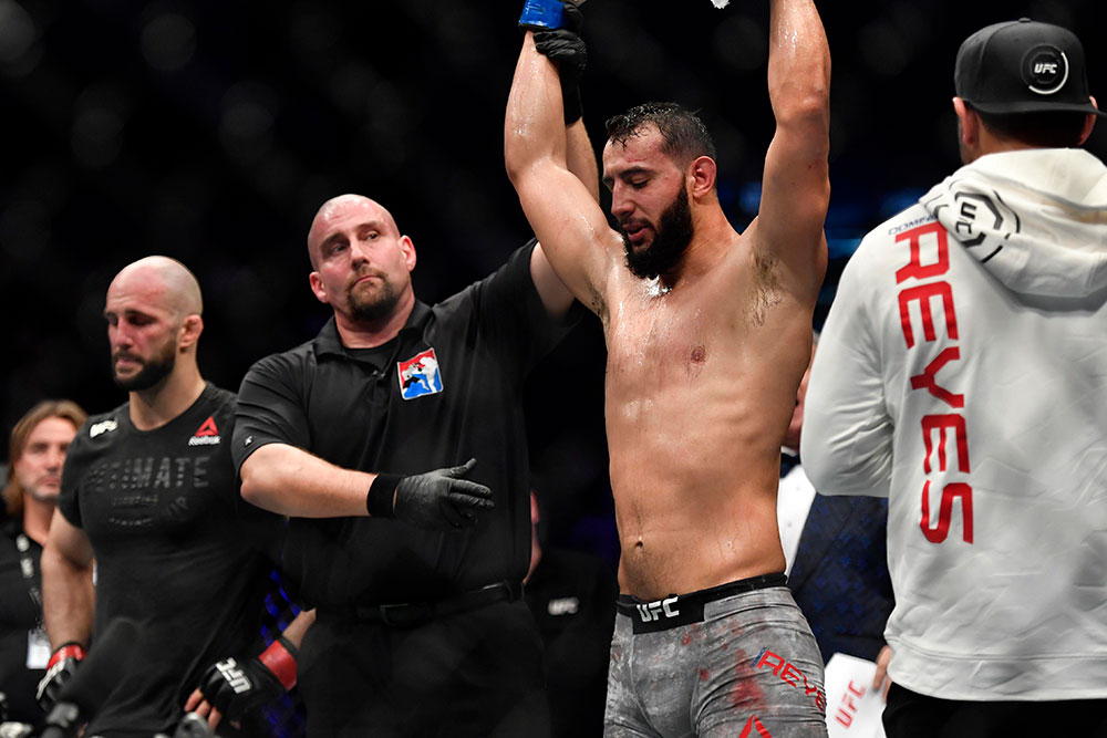 UFC Fight Night 147 Results - Dominic Reyes Stays Unbeaten, Edges Volkan Oezdemir in a Close Fight -