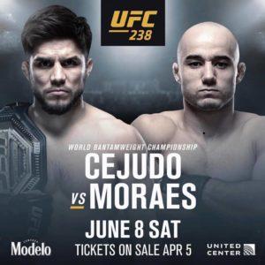 Henry Cejudo vs. Marlon Moraes for the UFC Bantamweight strap official for UFC 238 - Henry Cejudo