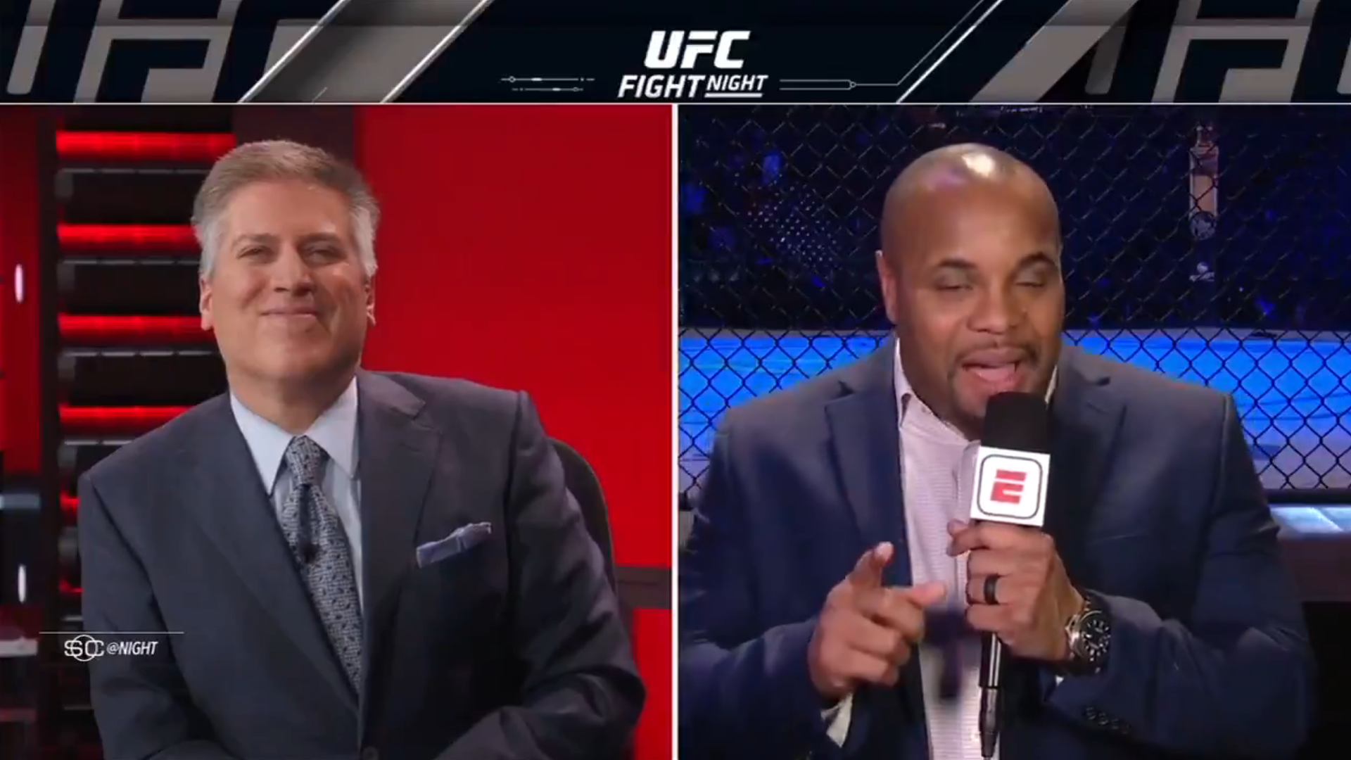 Watch: Daniel Cormier trolls good friend Ariel Helwani live on ESPN - Daniel