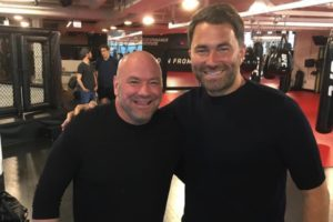 Dana White photographed with Eddie Hearn...Zuffa boxing on the way? - Hearn