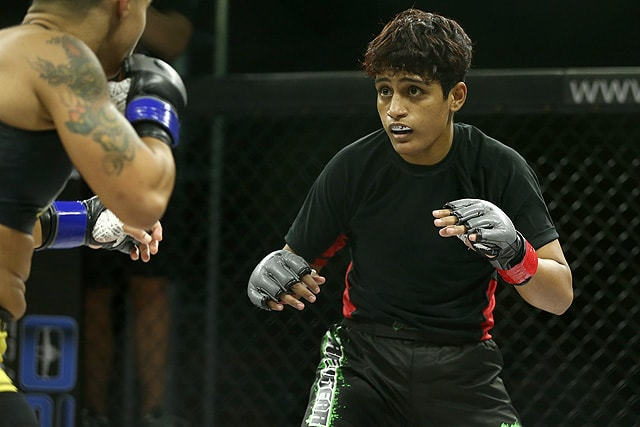 Manjit Kolekar hard in preparation for her 3rd Invicta fight - Manjit Kolekar