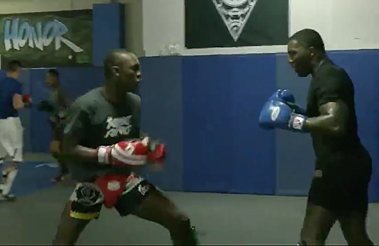 Watch: Video footage emerges of Israel Adesanya working Anthony 'Rumble' Johnson over in sparring - Israel