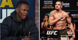 Israel Adesanya and Robert Whittaker