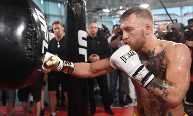 Watch: Conor McGregor fights in a boxing exhibition - Conor