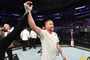Gaethje became the first in history to win at least one fight-night bonuses in each of his first five UFC appearances - Justin Gaethje