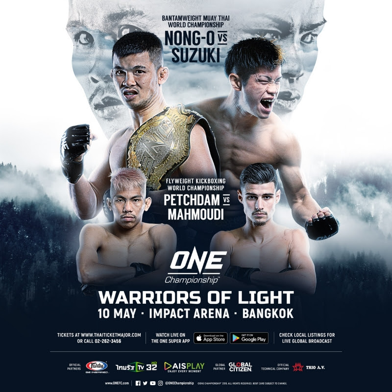 COMPLETE CARD ANNOUNCED FOR ONE: WARRIORS OF LIGHT IN BANGKOK ON 10 MAY -
