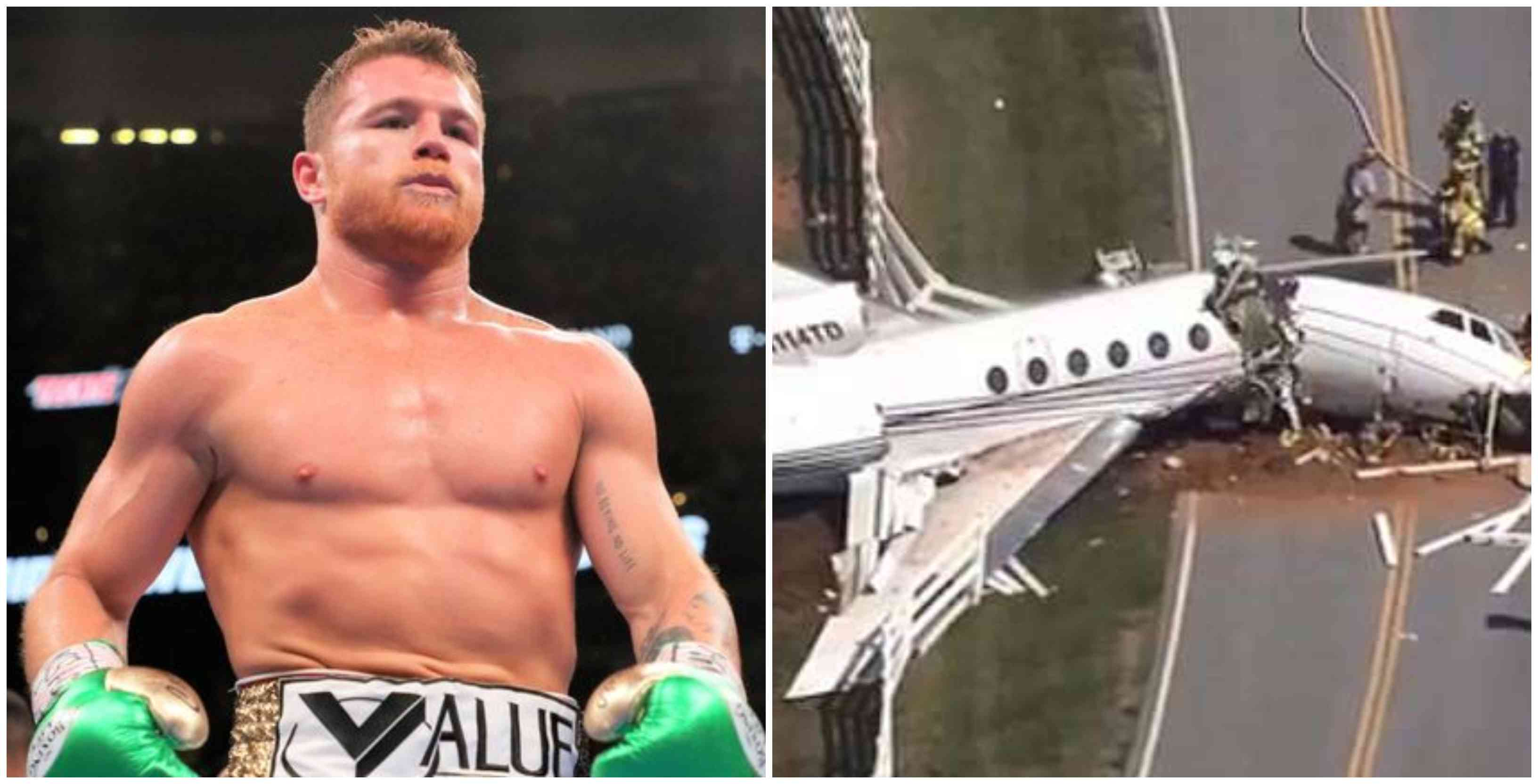 14 Boxing fans killed in a plane crash in Mexico carrying them home from Canelo vs Jacobs fight - Canelo