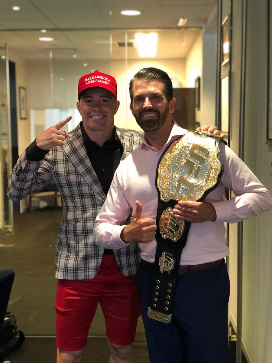 UFC Welterweight Colby Covington visits the Trumps -