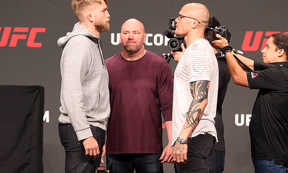 Watch: Who blinks first in an intense staredown: Gus or Anthony Smith? - Gustafsson