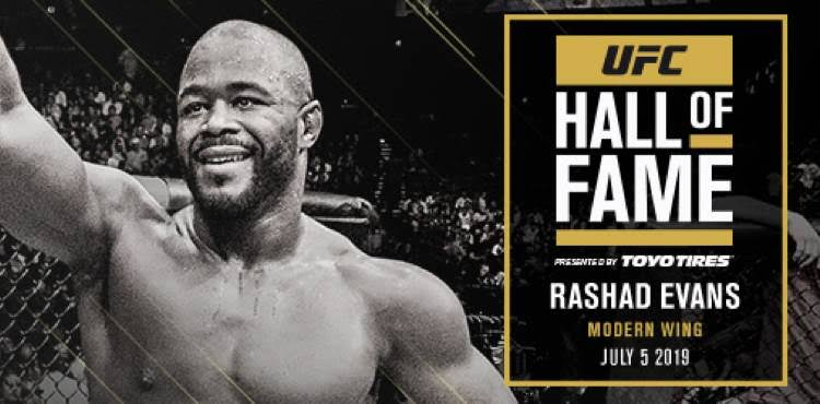 UFC: 'Suga' Rashad Evans to be inducted into the UFC Hall of Fame - Evans