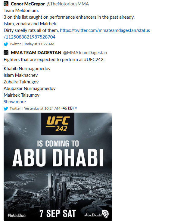 Conor McGregor slams Dagestani fighters for PED use -