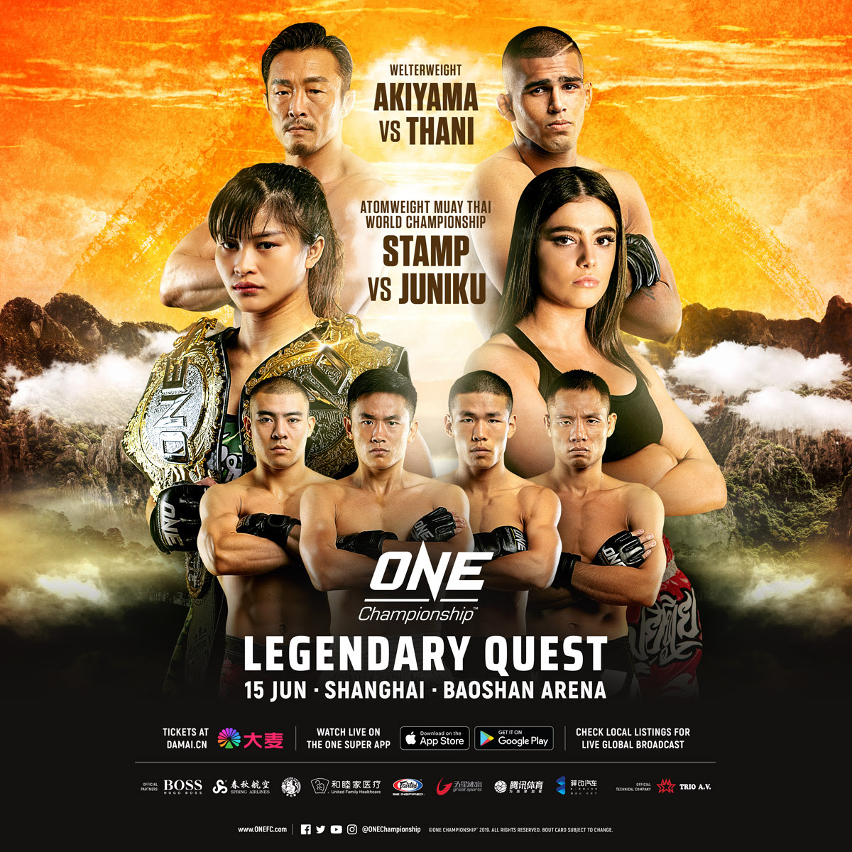 INITIAL BOUTS ANNOUNCED FOR ONE: LEGENDARY QUEST ON 15 JUNE -