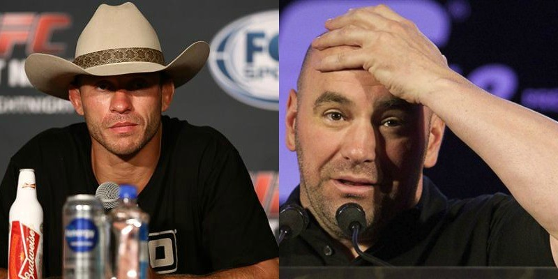 Watch: Cowboy asks Dana White if the winner of his fight is the next contender - Cowboy