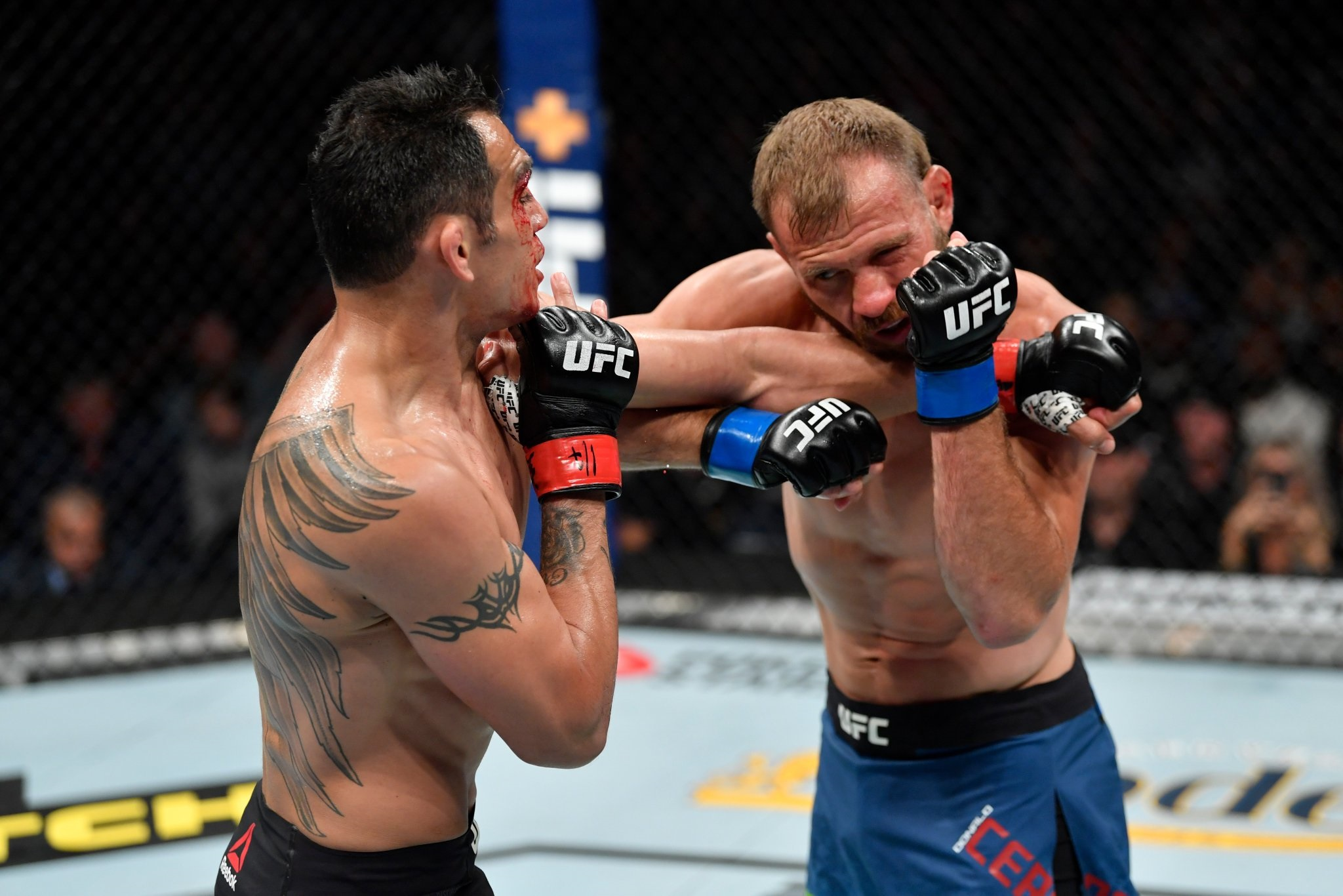UFC 238 Results - Cerrone's Swollen Eye Causes the Fight to be Stopped, Ferguson Wins via TKO -