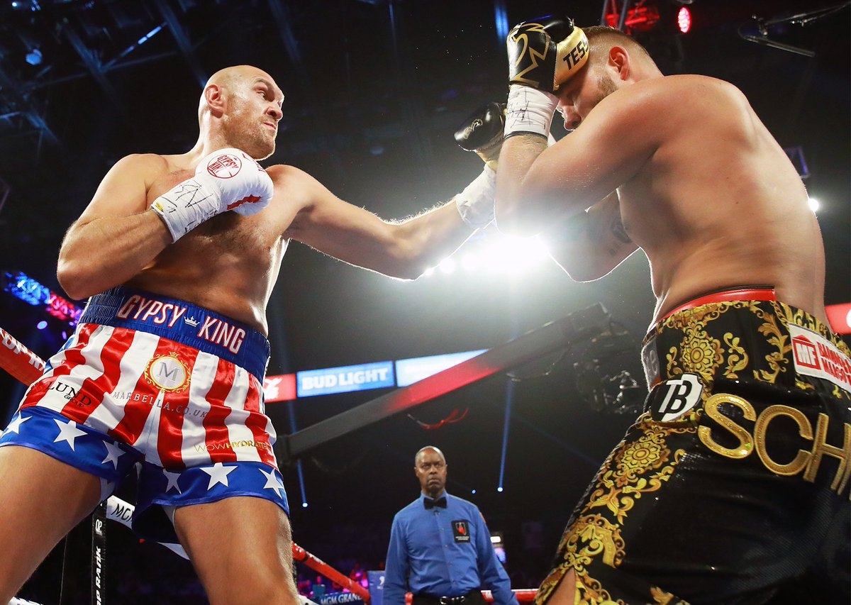 VIDEO: Tyson Fury destroys Tom Schwarz in the second round to remain undefeated - Tyson
