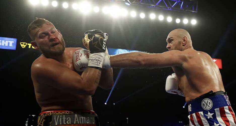 Twitter reacts to Tyson Fury's dominant 2nd round TKO victory over Tom Schwarz - Tyson