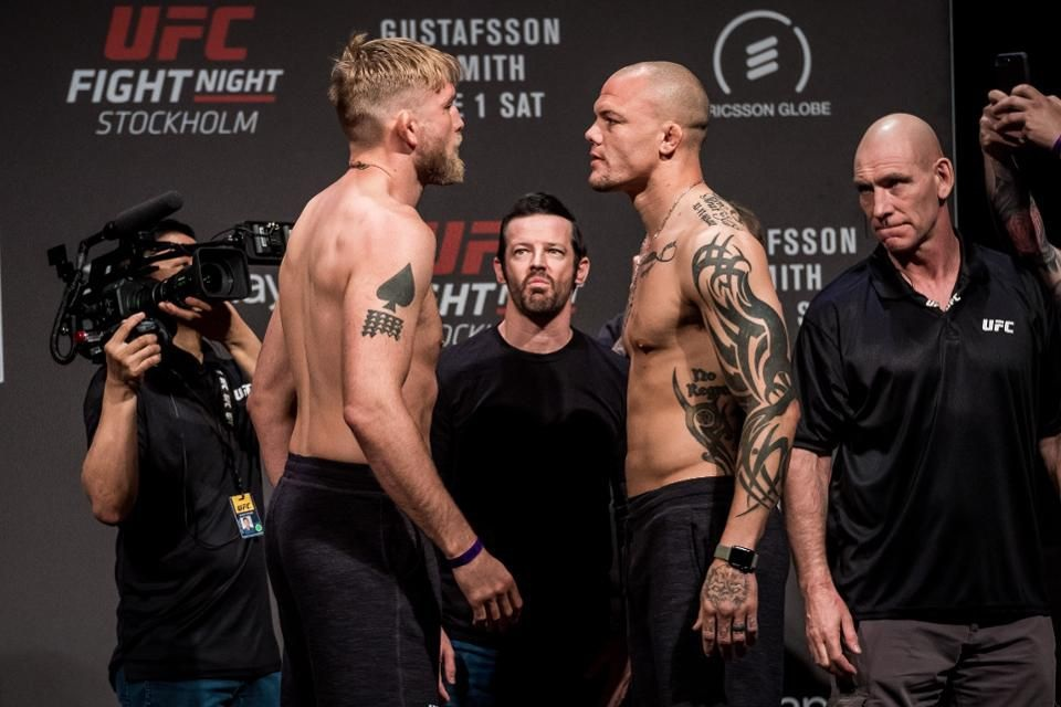 UFC Fight Night 153 'Gustafsson vs. Smith' - Play by Play Updates & LIVE Results -