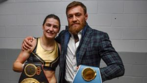 Conor McGregor reacts to Katie Taylor's hard fought victory - Katie