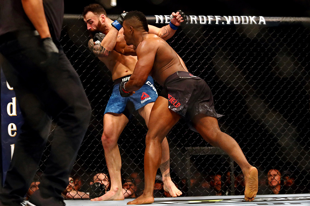 UFC on ESPN 3 Results - Alonzo Menifield Capitalizes the Failed Kick from Paul Craig, Knocksout in First Round To Stay Undefeated -