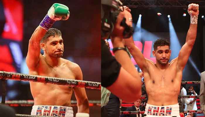 VIDEO: Amir Khan knocks out Billy Dib in the fourth round, calls out Manny Pacquiao after the fight - Amir