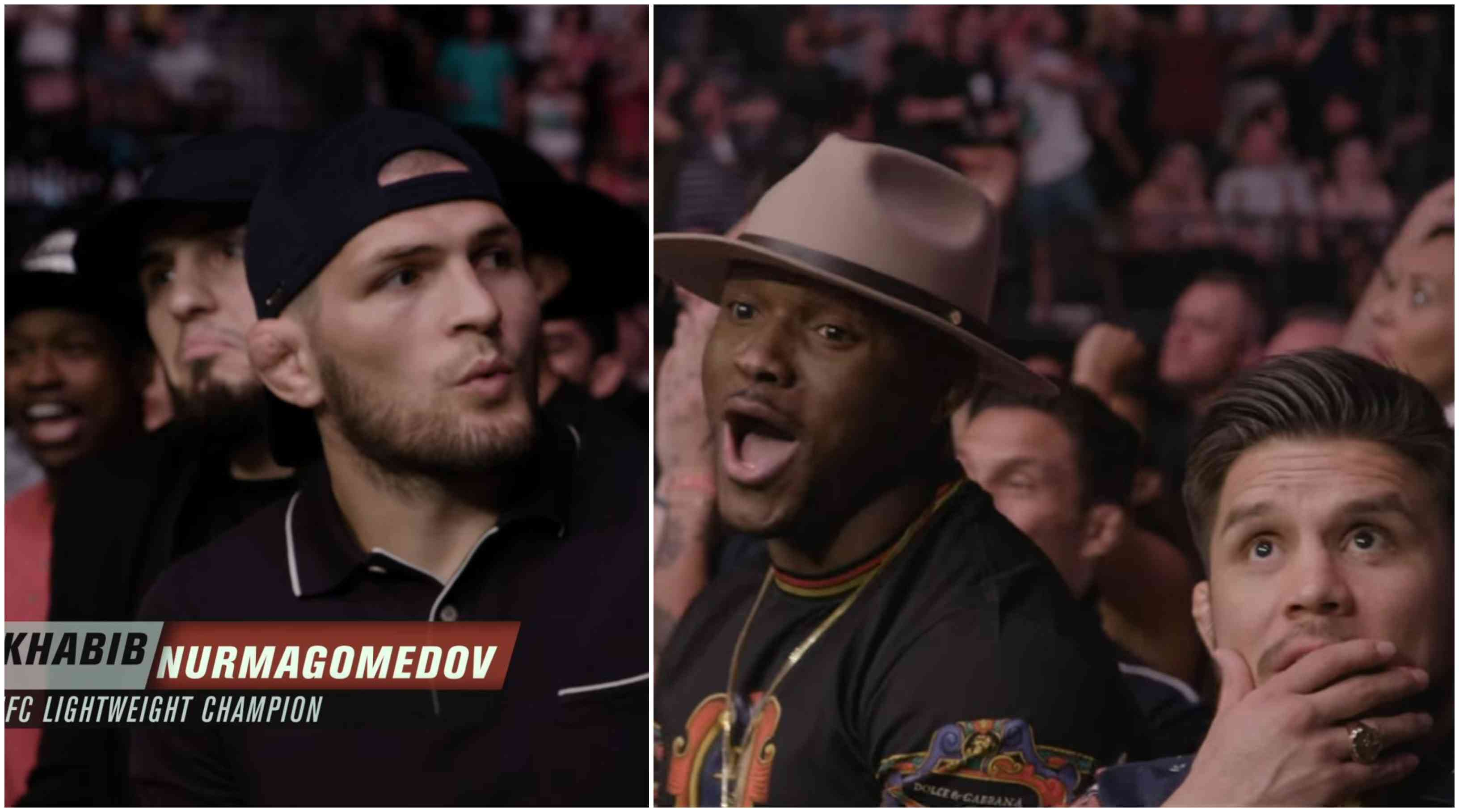 Watch: Khabib's priceless reaction ringside when Jorge Masvidal KOed Ben Askren - Jorge