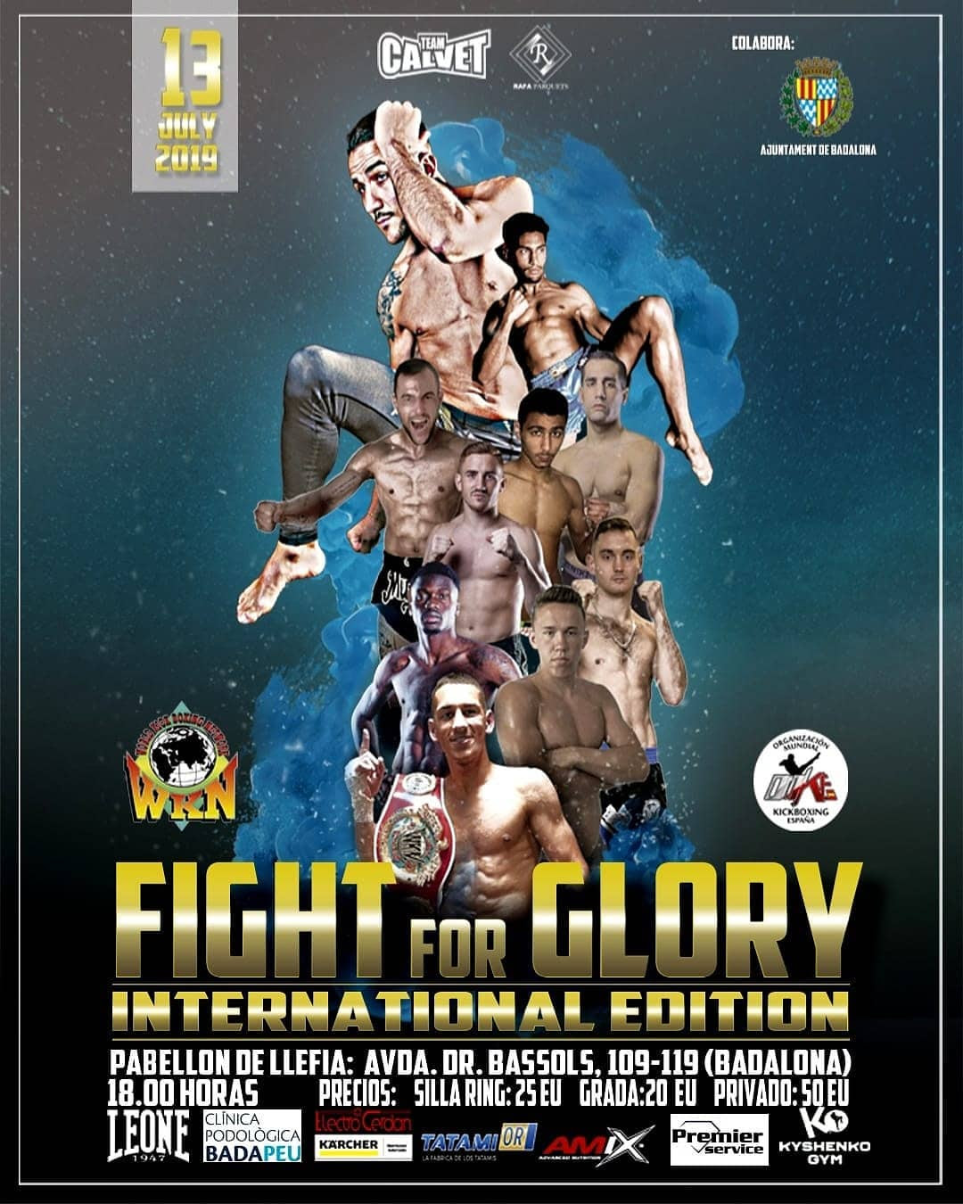 Fight for Glory: WKN International Edition this Saturday in Badalona, Spain -