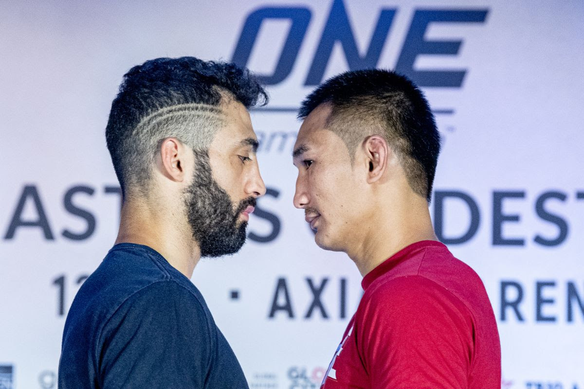 GIORGIO PETROSYAN AND PETCHMORAKOT PETCHYINDEE ACADEMY FACE-OFF AT ONE: MASTERS OF DESTINY OPEN WORKOUT -