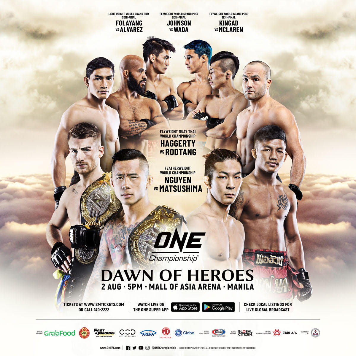 EDDIE ALVAREZ AND EDUARD FOLAYANG ENTER ONE LIGHTWEIGHT WORLD GRAND PRIX -