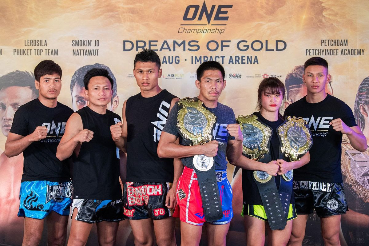 THAI SUPERSTARS SHOWCASE SKILLS AT ONE: DREAMS OF GOLD OPEN WORKOUT -