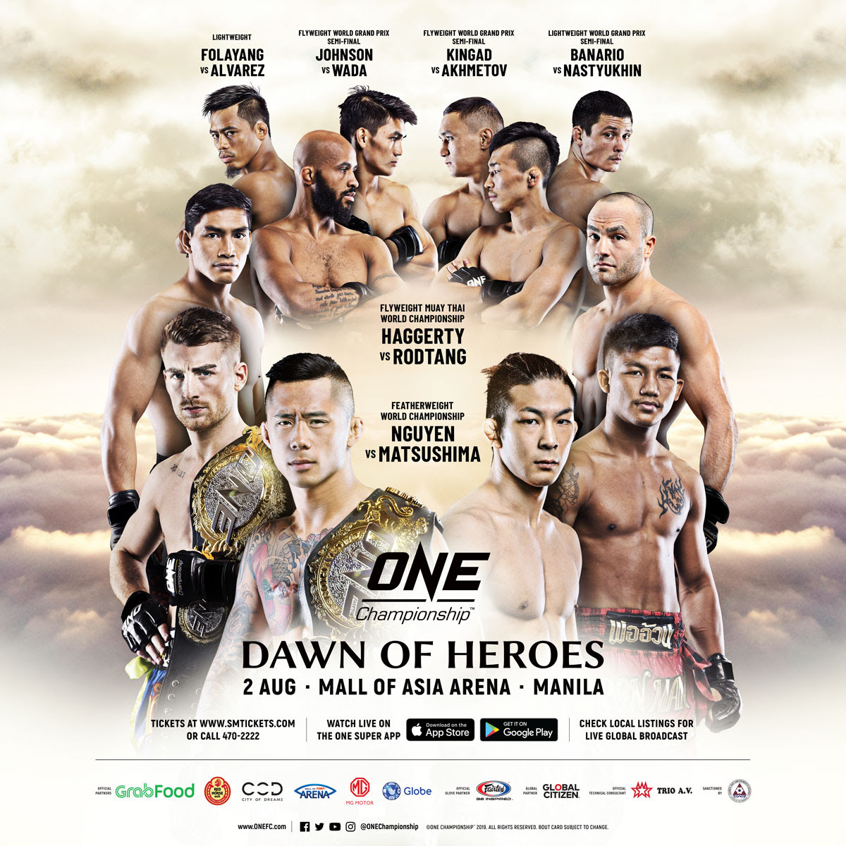 MARTIN NGUYEN TO DEFEND ONE FEATHERWEIGHT WORLD TITLE AGAINST KOYOMI MATSUSHIMA IN MANILA ON 2 AUGUST -