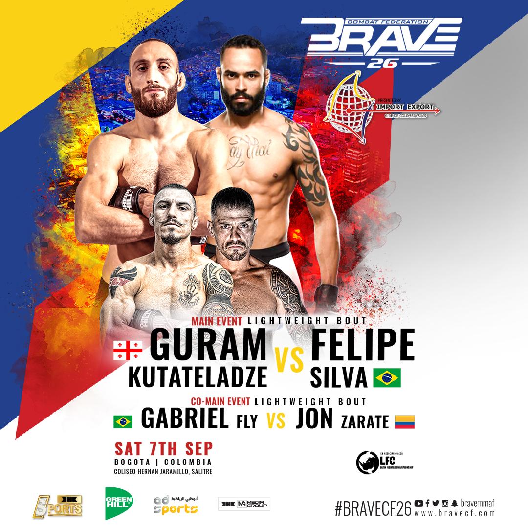 Full card announced for Bogota's first taste of international MMA with BRAVE 26 -